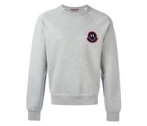 smiley logo plaque sweatshirt