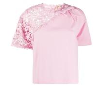 T-Shirt mit gehäkeltem Einsatz