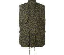 Military-Jacke mit Leoparden-Print