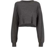 Geripptes Sweatshirt aus Frottee