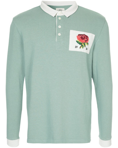 flower patch polo shirt
