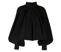 Drapierte Bluse mit Stehkragen