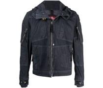Jacke im Jeans-Look mit Knitteroptik