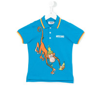 Poloshirt mit Affen-Print - kids - Baumwolle