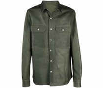 Schmale Hemdjacke aus Leder