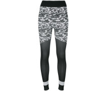 - Leggings mit Blumen-Print - women