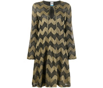 Kleid mit Chevron-Print