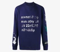 'Semantic' Sweatshirt mit Print