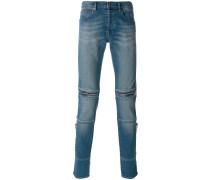 Jeans mit Reißverschlussdetails