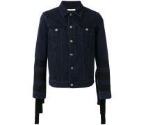 Jeansjacke mit Zierbändern