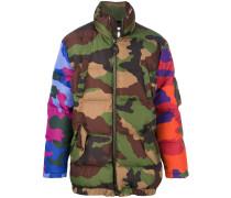 padded camouflage coat