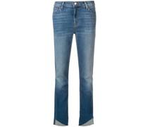 Cropped-Jeans mit ausgefranstem Saum