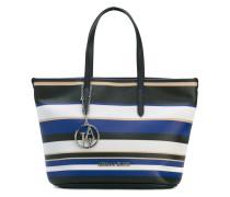 Gestreifte Handtasche - women - PVC