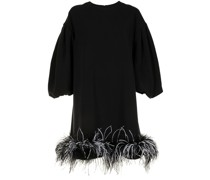 Poppy Kleid mit Federbesatz