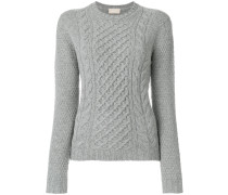cable knit crew neck jumper