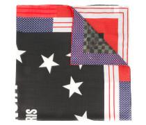 star printed scarf - men
