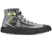 High-Top-Sneakers mit Trompe-l'œil-Print
