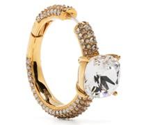 rhinestone-embellished hoop earring