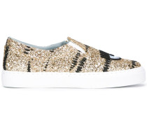 Slip-On-Sneakers in Metallic-Optik - women