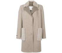 Mittellanger Mantel mit Nerzbesatz
