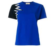 contrast sleeve T-shirt