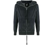 velour zip-up hoodie