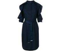 cold shoulder tie waist dress