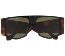 chunky tinted aviator sunglasses