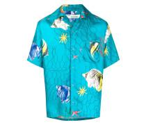 Hemd mit Fische-Print