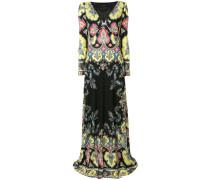 Langes Empire-Kleid mit Paisley-Print