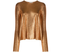 Langarmshirt im Metallic-Look