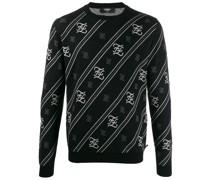 Pullover mit Karligraphy-Streifen