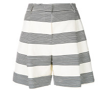 striped wide leg shorts