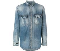 distressed denim shirt - Unavailable
