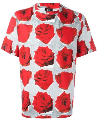 paul smith herren t shirt mit rosen print reduziert. Black Bedroom Furniture Sets. Home Design Ideas