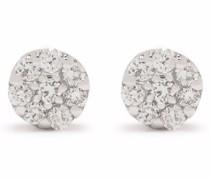 14kt Weißgoldohrringe mit Diamanten