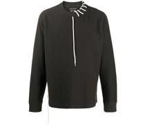 Sweatshirt mit Kontrastschnürung