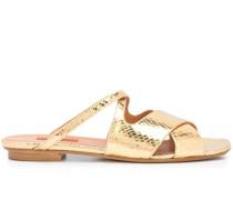Sandalen mit Kroko-Effekt