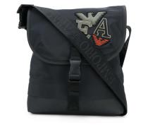 applique patch messenger bag