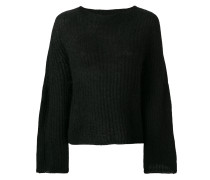 flared knit jumper