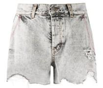 Jeansshorts mit ungesäumten Kanten