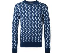 Pullover mit Intarsien-Strickmuster - men