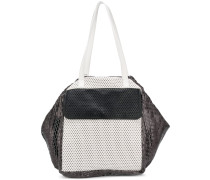 Oversized-Handtasche in Colour-Block-Optik