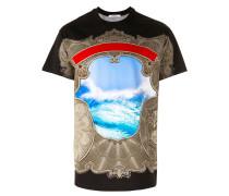 T-Shirt mit Meer-Print