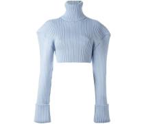 Pullover mit breiten Schultern