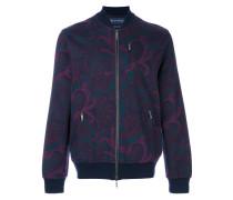 floral zip bomber jacket