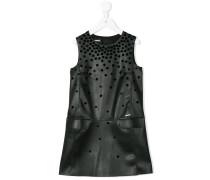 Kleid mit geflockten Details