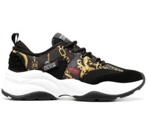 baroque-print chunky sneakers