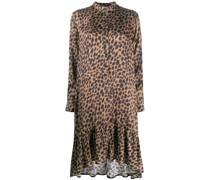 Midikleid mit Leopardenmuster