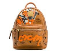 Mini Rucksack mit Graffiti